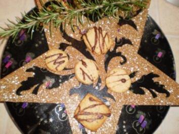 Weihnachtsplätzchen , mit Tonkabohne und Rosmarin, mit Zitronenthymian und Zitrusschale - Rezept
