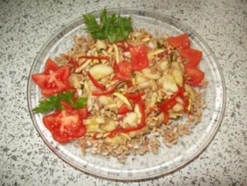 Gemischter Salat mit Sonnenblumenkernen - Rezept