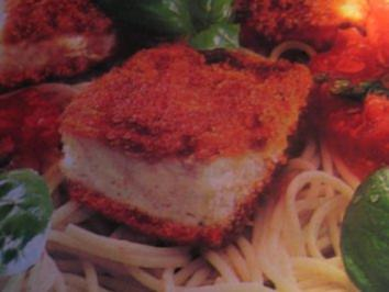 Knusperfisch auf Spaghetti - Rezept