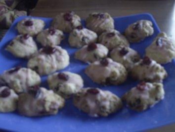 Plätzchen: Cranberry-Häufchen - Rezept