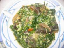 Spinatreis mit Schnecken - Rezept