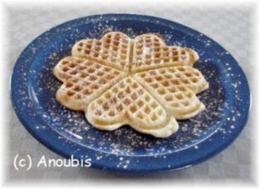 Rezept: Kuchen/Gebäck - Knusprige Waffeln