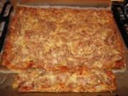 Dinkel-Blätterteigpizza mit Thunfisch - Rezept