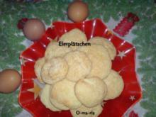Kleingebäck  Eierplätzchen - Rezept