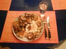 Frühstück:  Bratkartoffeln mit Ziegenkäse - Rezept