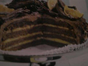 Rezept: Orangen-Schoko-Torte