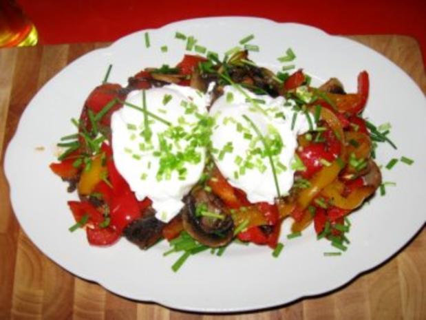 Buntes Gemüse  auf Steinofenbrot+ pochierte Eier - Rezept - Bild Nr. 5