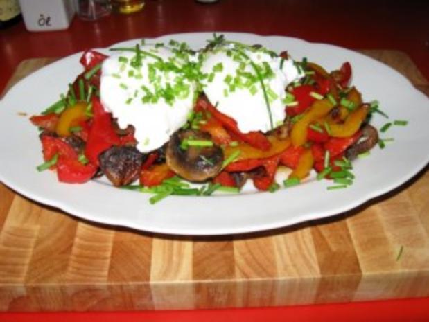 Buntes Gemüse  auf Steinofenbrot+ pochierte Eier - Rezept - Bild Nr. 6