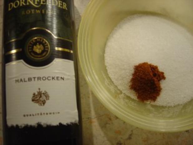 Rotweinsauce zum Weinachts-Auflauf - Rezept - Bild Nr. 3