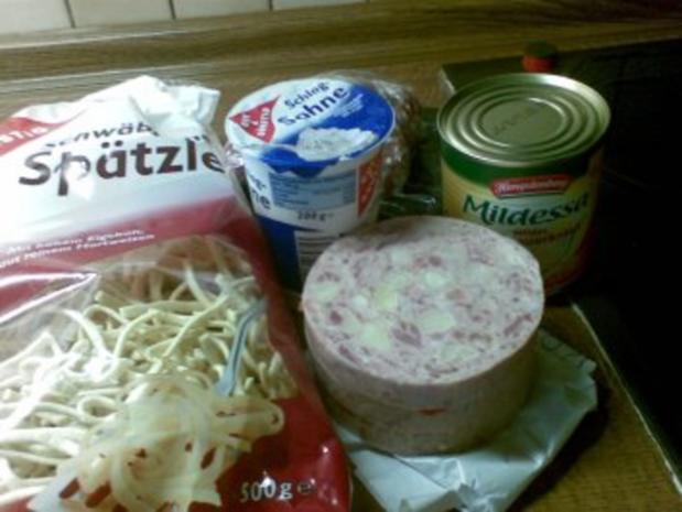 Krumbeerworscht-Ufflaaf ( Kartoffelwurst-Auflauf ) - Rezept - Bild Nr. 2