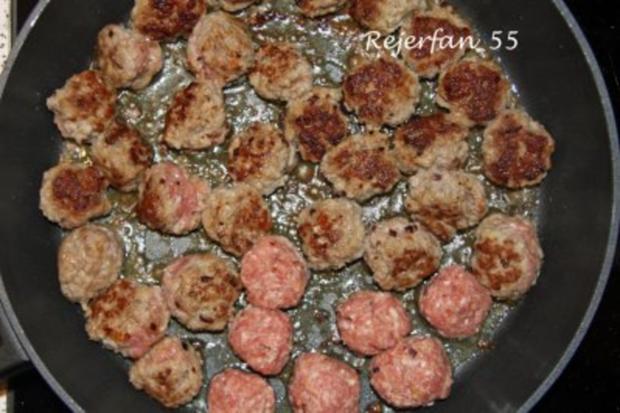 Schwedische Fleischbällchen (Köttbullar)  mit Soße - Rezept - Bild Nr. 2
