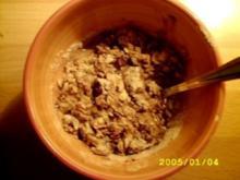 Müsli: double chocolat cherry cappucino crunch - Rezept
