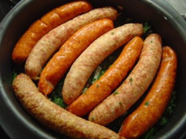 Grünkohl im Backofen gegart mit Pinkelwurst und Mettendchen - Rezept - Bild Nr. 5