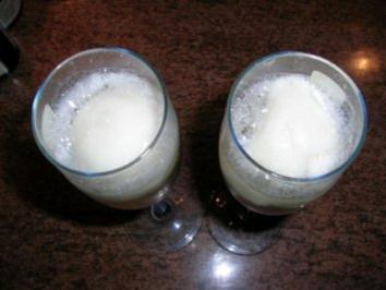 Zitronensorbet mit Sekt - als ZWISCHENGANG - - Rezept