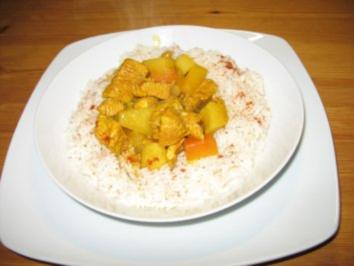 Pute in Curry - Rezept