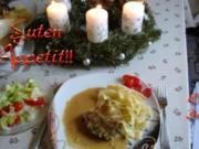 Geschmorte Ochsenbrust mit Äpfeln und Kräuterkruste - Rezept