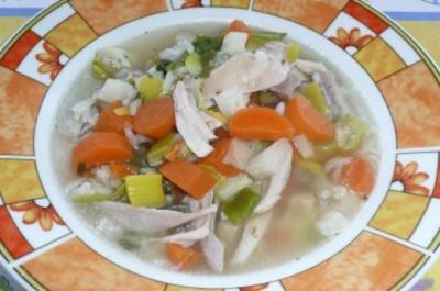 Eintopf: Hähnchen-Gemüsetopf mit Reis - Rezept