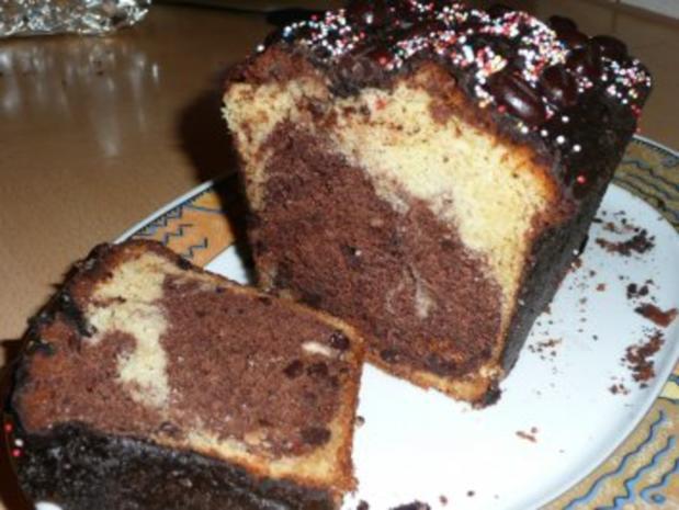 Marmorkuchen mit Vanilleschote,Espresso,Amaretto und Schoko-Mokkabohnen - Rezept - Bild Nr. 13