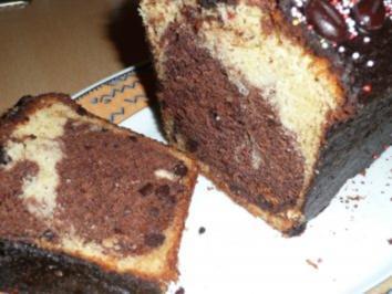 Marmorkuchen mit Vanilleschote,Espresso,Amaretto und Schoko-Mokkabohnen - Rezept