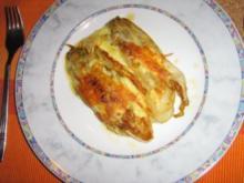 Chicorée in Honig gebraten und gratiniert - Rezept