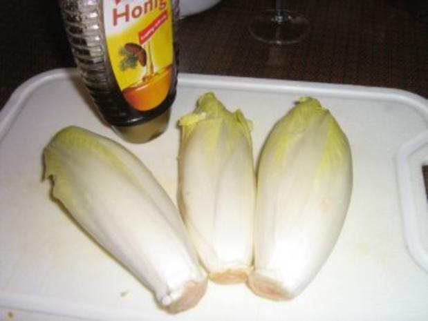 Chicorée in Honig gebraten und gratiniert - Rezept - Bild Nr. 2