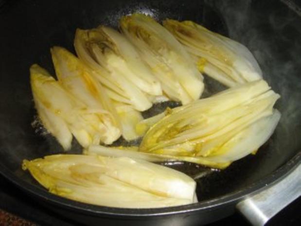 Chicorée in Honig gebraten und gratiniert - Rezept - Bild Nr. 3