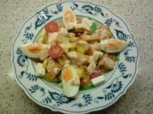 Salat mit Hühnerstreifen - Rezept