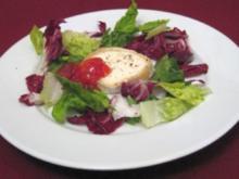 Ziegenkäse mild gebacken mit Tomatenkonfitüre - Rezept