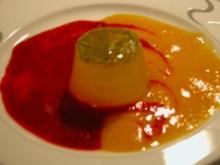 Dessert - Limetten- MInz-Gelee mit Fruchtpüree - Rezept