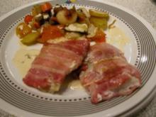 Fisch -  Eingewickelter Lumb an Ofengemüse - Rezept