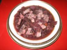 Rotkraut - Blaukraut Eintopf mit Dorrfleisch - Rezept