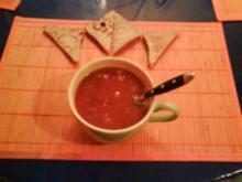 Abendbrot: Tomatencremesuppe mit Toast - Rezept
