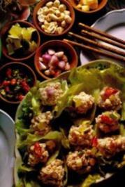 Hühnerbrust auf Salatblätter - Rezept