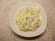 Chinakohlsalat mit Schinken - Rezept