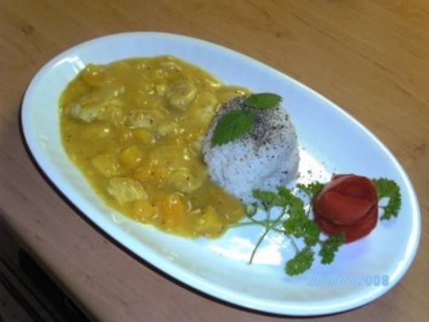 Mango- Geflügel-Kokos-Ingwer-Cürry mit Reis - Rezept - Bild Nr. 2