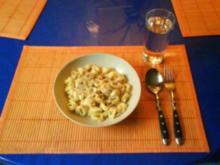Nudeln: Käsetortellinis mit Käse-Austernpilzsoße - Rezept