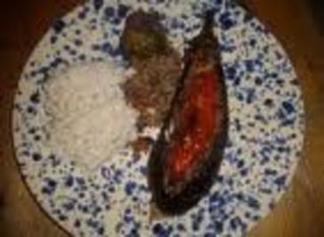 Gefüllte Auberginen (Karniyarik) - Rezept