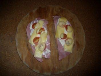 Kleine Mahlzeit: Überbackenes Schinkenbrot - Rezept