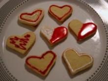 Plätzchen - Rot -Weiße  Herzen - Rezept