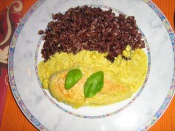 Hähnchenbrustfilet in fruchtiger Orangensauce an Mediteraneo Reis - Rezept