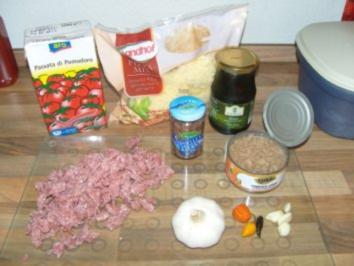 Pizza Thunfisch, Sardellen, Oliven - Rezept