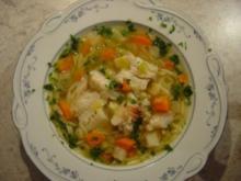 Fischsuppe, klar - kalorienarm - Rezept
