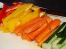 gesunde Gemüse Snack/Fingerfood mit Dip - Rezept