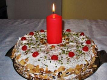 Weihnachtstorte aus Mandeln - Rezept