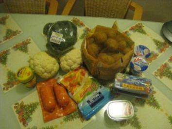 Kartoffel- Blumenkohl- Broccoli- Auflauf - Rezept