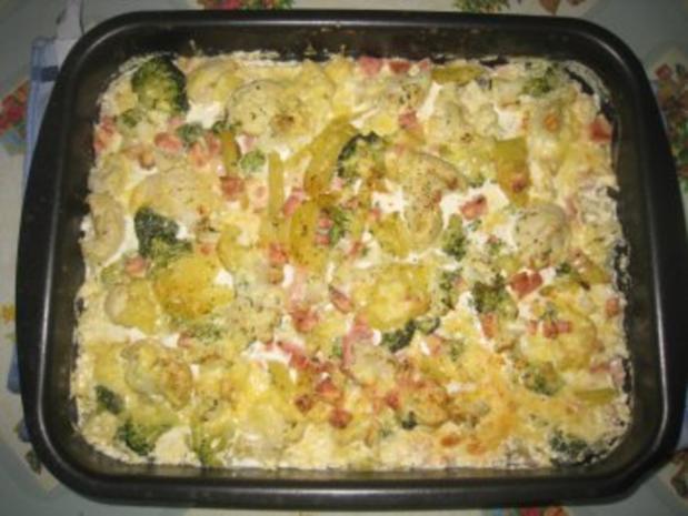 Kartoffel- Blumenkohl- Broccoli- Auflauf - Rezept - Bild Nr. 6
