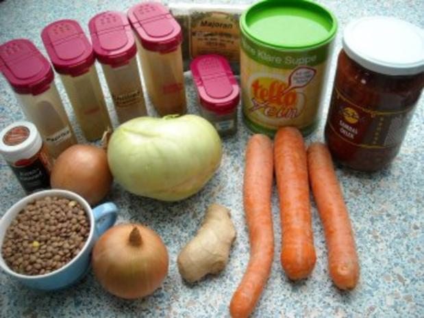 Linseneintopf, feurig-scharf, vegan - Rezept - Bild Nr. 3