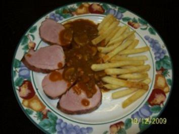 Schweinefilet mit Jägersoße - Rezept