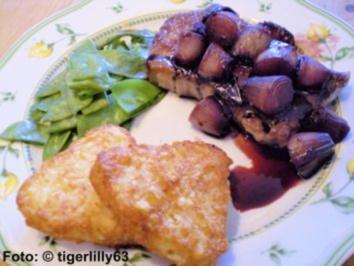 Rinderlendensteak mit Rotweinschalotten - Rezept