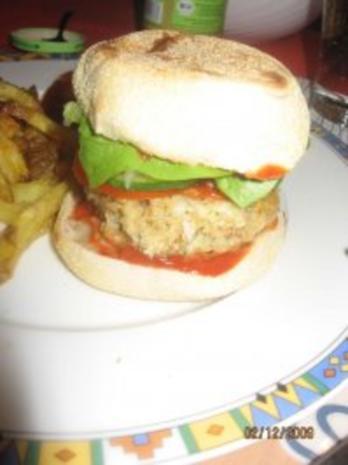 Vegetarischer Burger, Veggie-Burger - Rezept - Bild Nr. 7